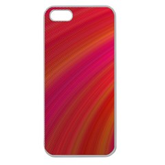 Abstract Red Background Fractal Apple Seamless Iphone 5 Case (clear)