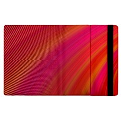 Abstract Red Background Fractal Apple Ipad 2 Flip Case
