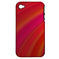Abstract Red Background Fractal Apple Iphone 4/4s Hardshell Case (pc+silicone)