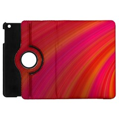 Abstract Red Background Fractal Apple Ipad Mini Flip 360 Case