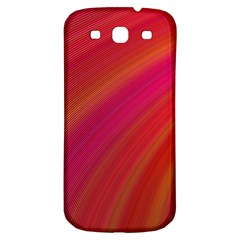 Abstract Red Background Fractal Samsung Galaxy S3 S Iii Classic Hardshell Back Case