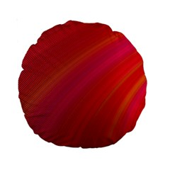 Abstract Red Background Fractal Standard 15  Premium Round Cushions