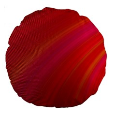 Abstract Red Background Fractal Large 18  Premium Round Cushions