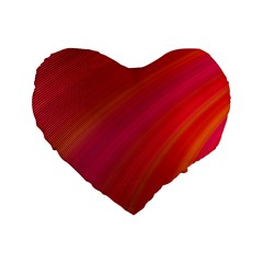 Abstract Red Background Fractal Standard 16  Premium Heart Shape Cushions