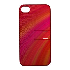 Abstract Red Background Fractal Apple Iphone 4/4s Hardshell Case With Stand