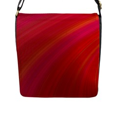 Abstract Red Background Fractal Flap Messenger Bag (l)