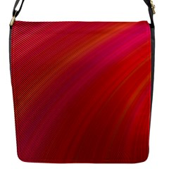 Abstract Red Background Fractal Flap Messenger Bag (s)