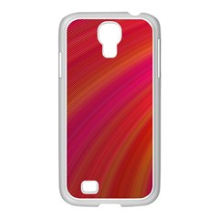 Abstract Red Background Fractal Samsung Galaxy S4 I9500/ I9505 Case (white)