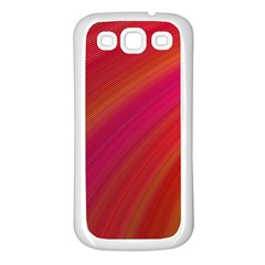Abstract Red Background Fractal Samsung Galaxy S3 Back Case (white)