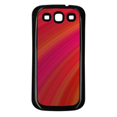 Abstract Red Background Fractal Samsung Galaxy S3 Back Case (black)