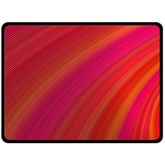 Abstract Red Background Fractal Double Sided Fleece Blanket (large)