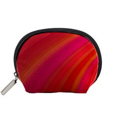 Abstract Red Background Fractal Accessory Pouches (small)