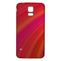 Abstract Red Background Fractal Samsung Galaxy S5 Back Case (white)