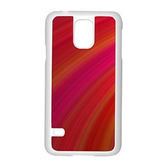 Abstract Red Background Fractal Samsung Galaxy S5 Case (white)