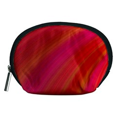 Abstract Red Background Fractal Accessory Pouches (medium)