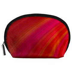 Abstract Red Background Fractal Accessory Pouches (large)