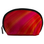 Abstract Red Background Fractal Accessory Pouches (Large)  Front
