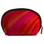 Abstract Red Background Fractal Accessory Pouches (Large)  Back