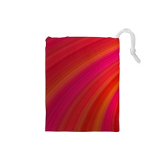 Abstract Red Background Fractal Drawstring Pouches (small)