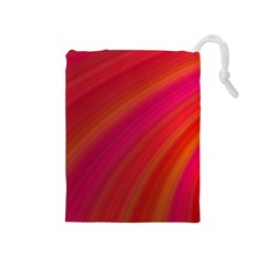 Abstract Red Background Fractal Drawstring Pouches (medium)