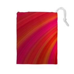 Abstract Red Background Fractal Drawstring Pouches (large)