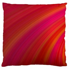 Abstract Red Background Fractal Large Flano Cushion Case (one Side)