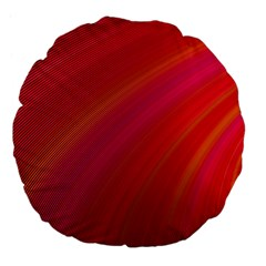 Abstract Red Background Fractal Large 18  Premium Flano Round Cushions