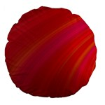 Abstract Red Background Fractal Large 18  Premium Flano Round Cushions Back