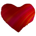 Abstract Red Background Fractal Large 19  Premium Flano Heart Shape Cushions Front