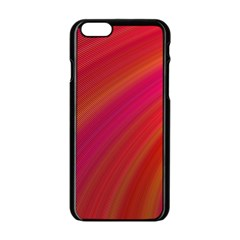 Abstract Red Background Fractal Apple Iphone 6/6s Black Enamel Case