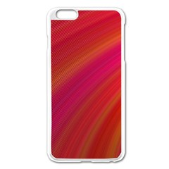 Abstract Red Background Fractal Apple Iphone 6 Plus/6s Plus Enamel White Case