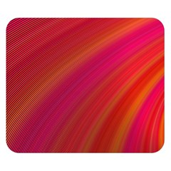 Abstract Red Background Fractal Double Sided Flano Blanket (small)