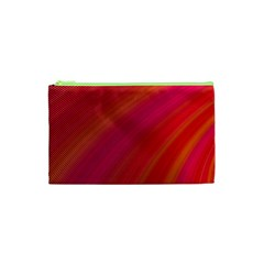Abstract Red Background Fractal Cosmetic Bag (xs)