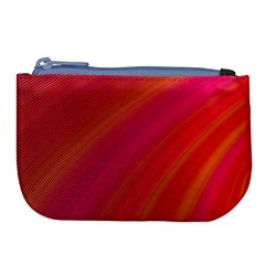 Abstract Red Background Fractal Large Coin Purse