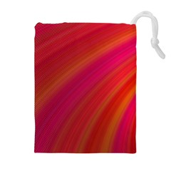 Abstract Red Background Fractal Drawstring Pouches (extra Large)