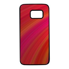 Abstract Red Background Fractal Samsung Galaxy S7 Black Seamless Case by Nexatart