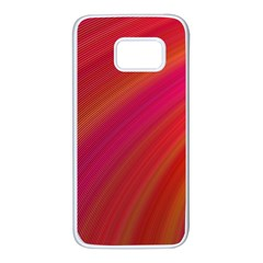 Abstract Red Background Fractal Samsung Galaxy S7 White Seamless Case