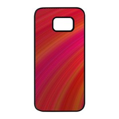 Abstract Red Background Fractal Samsung Galaxy S7 Edge Black Seamless Case