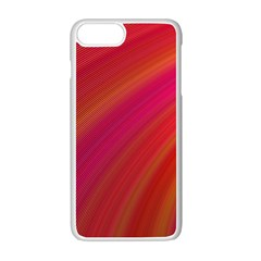 Abstract Red Background Fractal Apple Iphone 7 Plus White Seamless Case