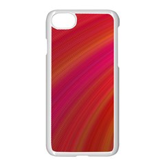 Abstract Red Background Fractal Apple Iphone 7 Seamless Case (white)