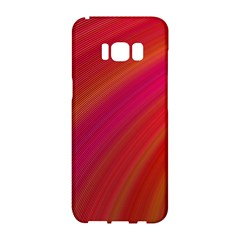 Abstract Red Background Fractal Samsung Galaxy S8 Hardshell Case