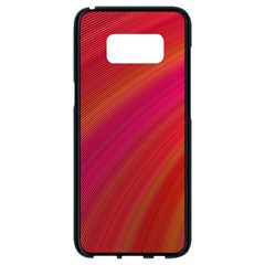 Abstract Red Background Fractal Samsung Galaxy S8 Black Seamless Case