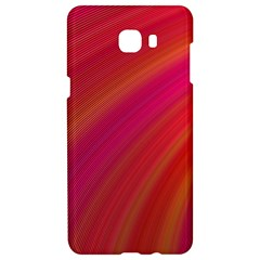Abstract Red Background Fractal Samsung C9 Pro Hardshell Case