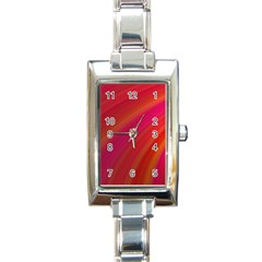 Abstract Red Background Fractal Rectangle Italian Charm Watch by Nexatart