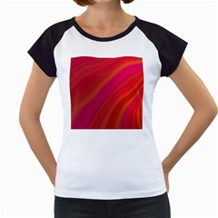 Abstract Red Background Fractal Women s Cap Sleeve T by Nexatart
