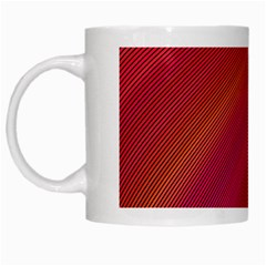 Abstract Red Background Fractal White Mugs