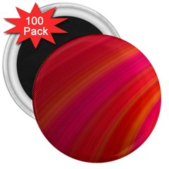 Abstract Red Background Fractal 3  Magnets (100 Pack)