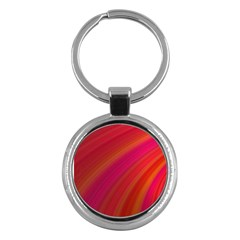 Abstract Red Background Fractal Key Chains (round)