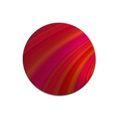 Abstract Red Background Fractal Rubber Coaster (round)