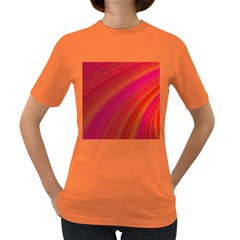 Abstract Red Background Fractal Women s Dark T Shirt